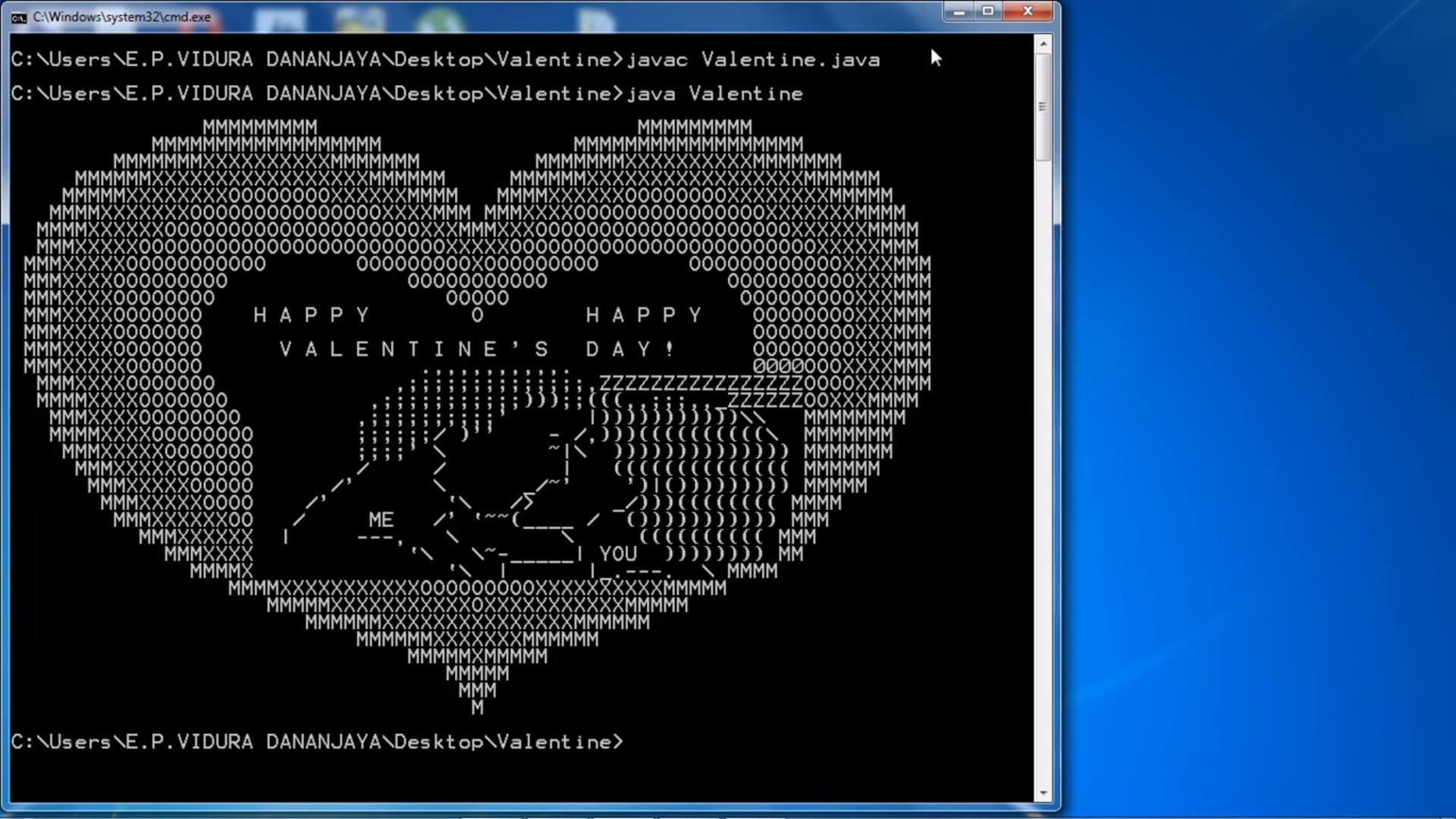 Java Valentine