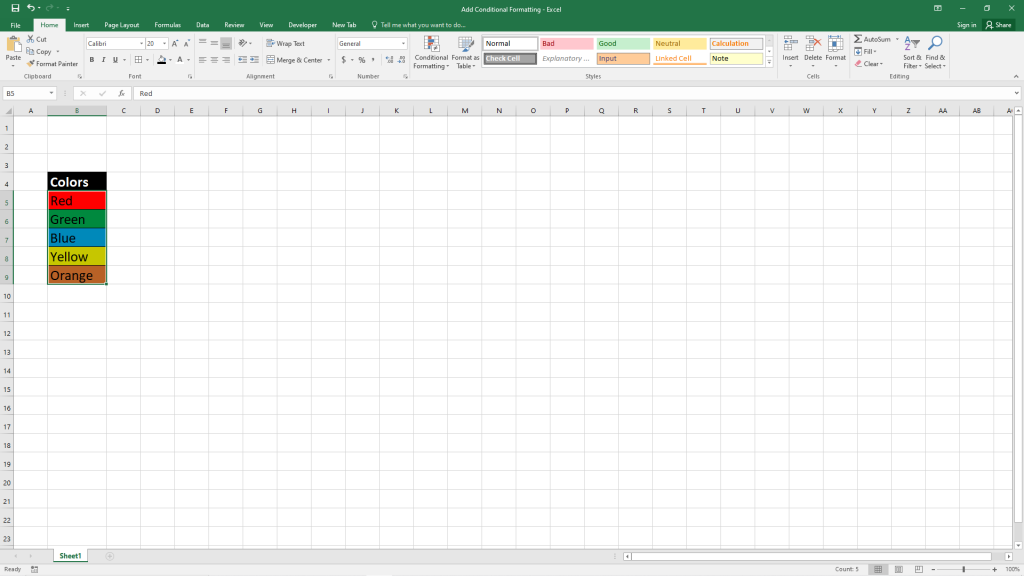 How to format cells of Excel