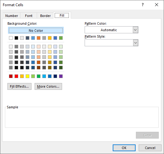 Change background color of a cell with conditions of Excel