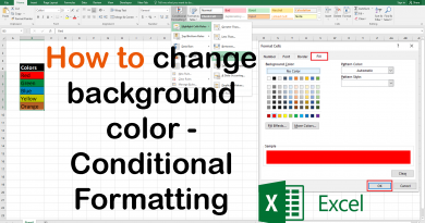 Excel Conditional Formatting Get Basic Idea