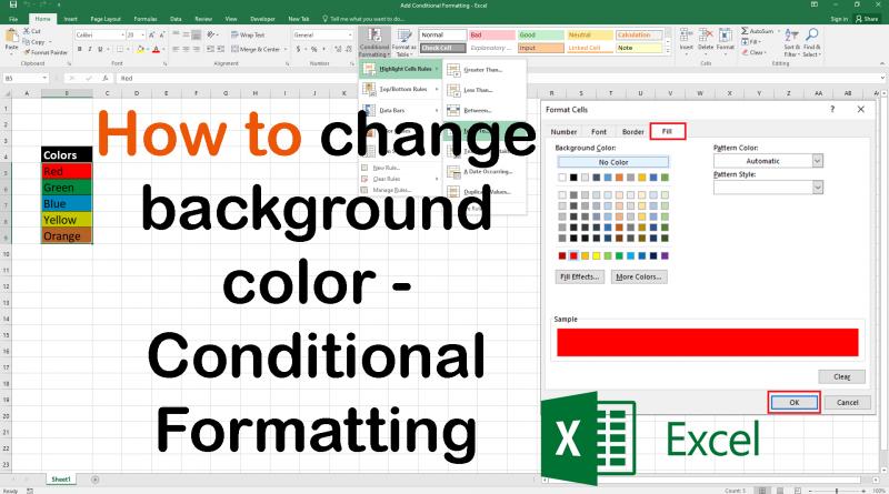 Excel Conditional Formatting Get Basic Idea