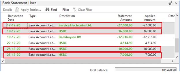 Delete Bank Statement Lines in Microsoft Dynamics Navision
