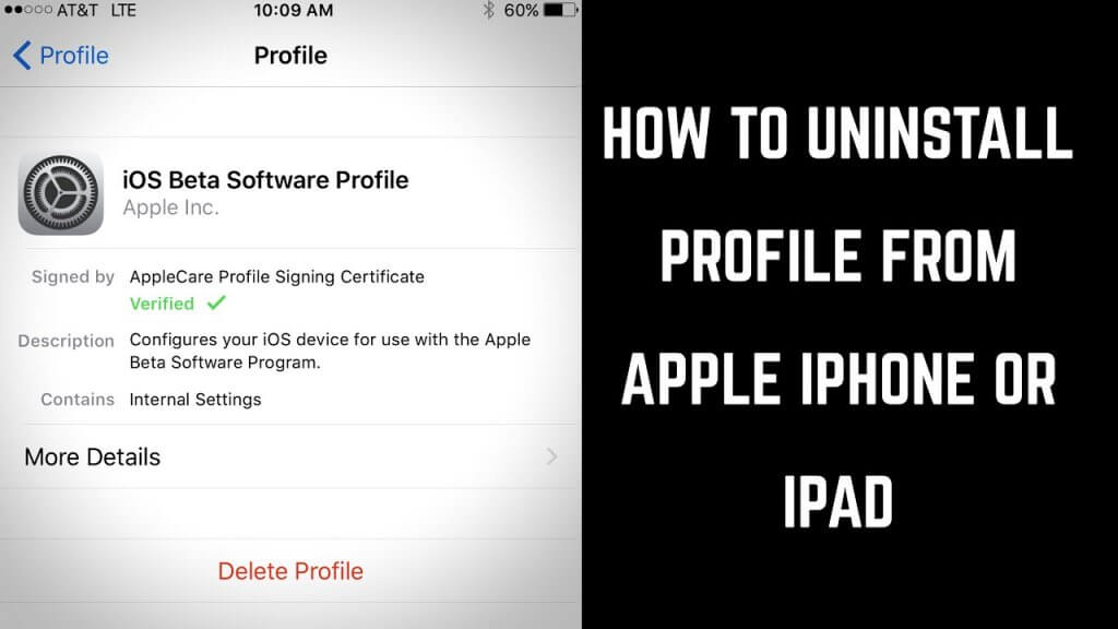 How to remove AppValley profile from settings.