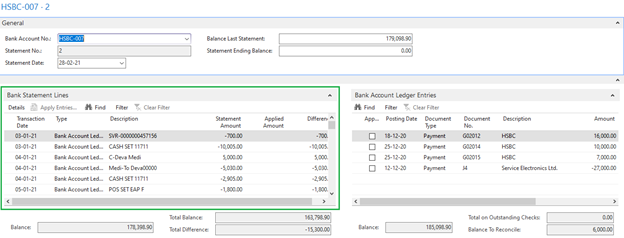 Import Bank Statement to Microsoft Dynamics Navision