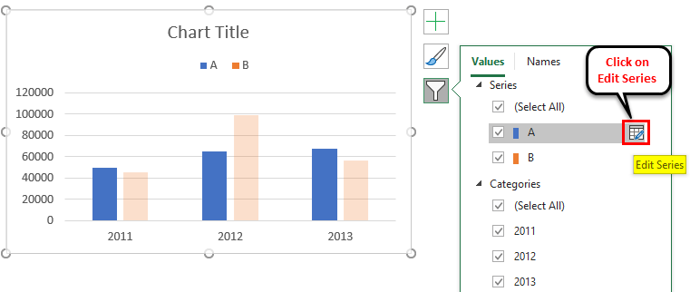 Edit Legend in Excel