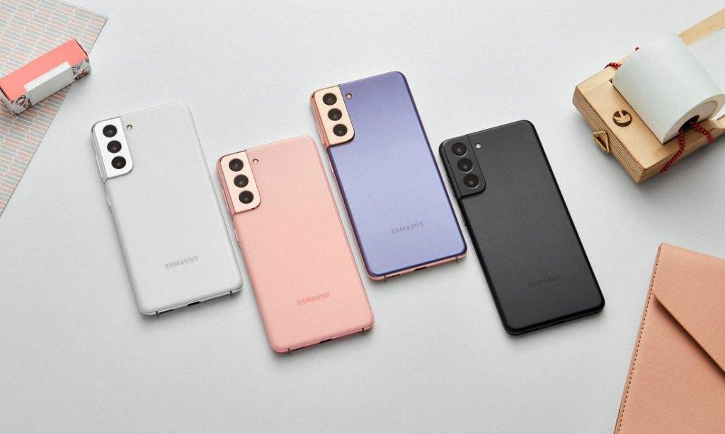 Samsung Galaxy S21 color variants.