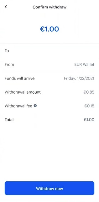 confirm coinbase withdrawal mobile