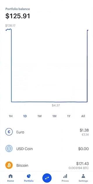 coinbase portfolio mobile