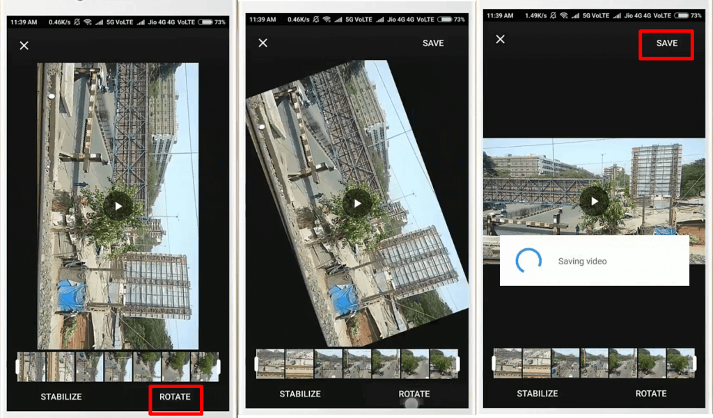 Rotate your videos on Google Photos