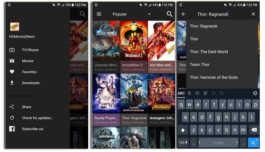 Cinema HD APK on Android Mobile phones