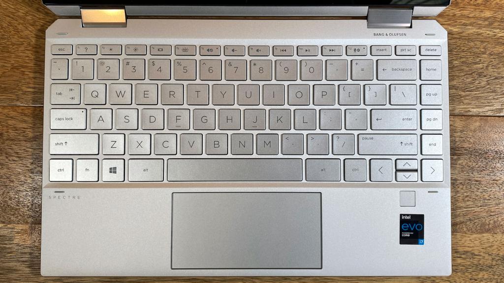 Keyboard, touchpad & fingerprint scanner