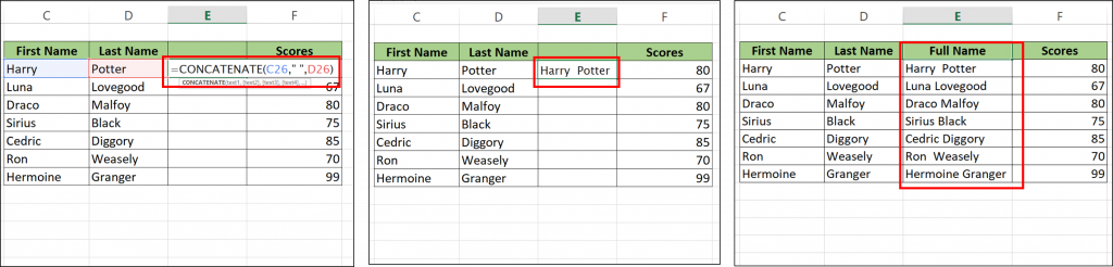 merge cells without losing data in excel