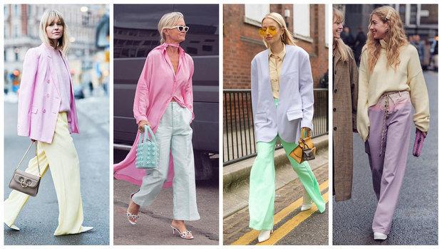 Sorbet Pastel tone as wearable fashion trend 2021