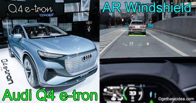 Audi Q4 e-tron AR Windshield Display