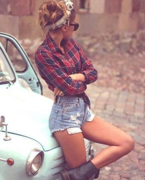 Plaid Hipster Girls Fashion