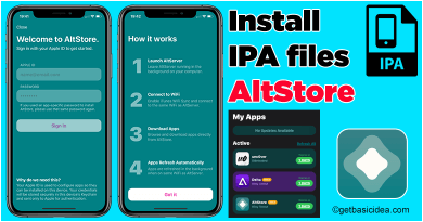 Install IPA files AltStore iOS