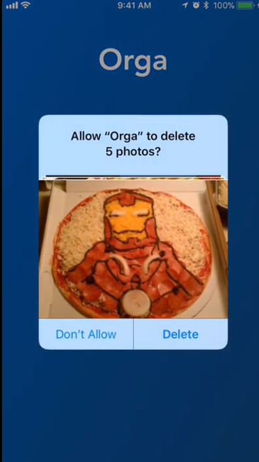 Delete images in Orga