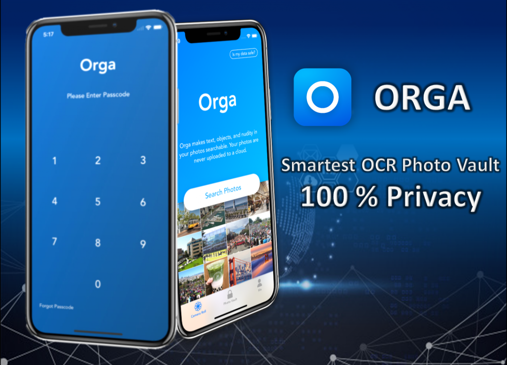 Orga - Smartest and Most Private OCR Photo Vault for iPhones