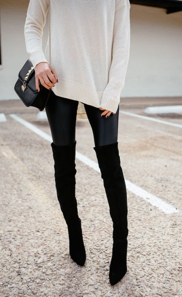 High Knee With Leggins - jeans