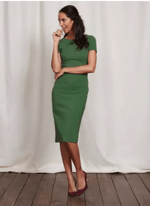 Neat green dress