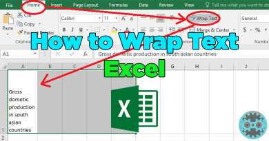 How to Wrap Text in Excel