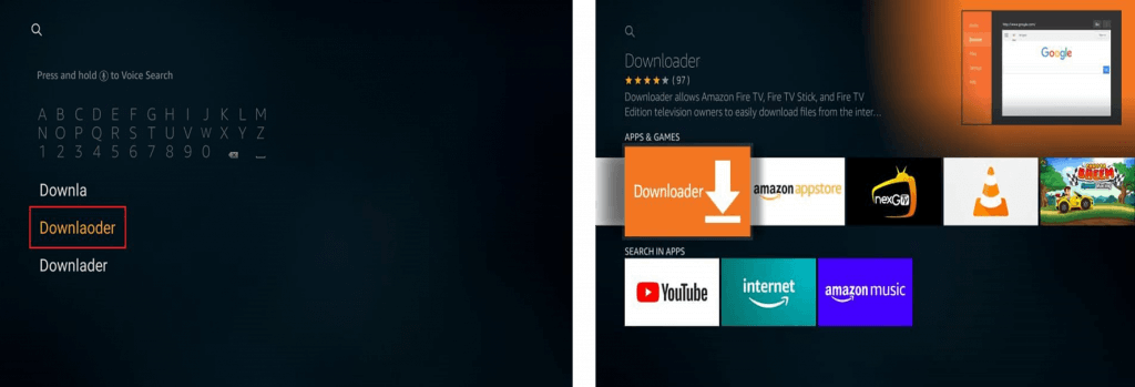 Install Downloader App on Firestick