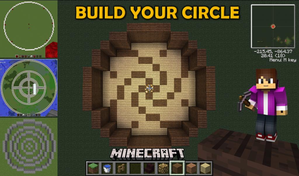 Minecraft Circle Generator tools - Generating circles in Minecraft