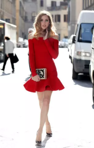 Chic red sheath dress