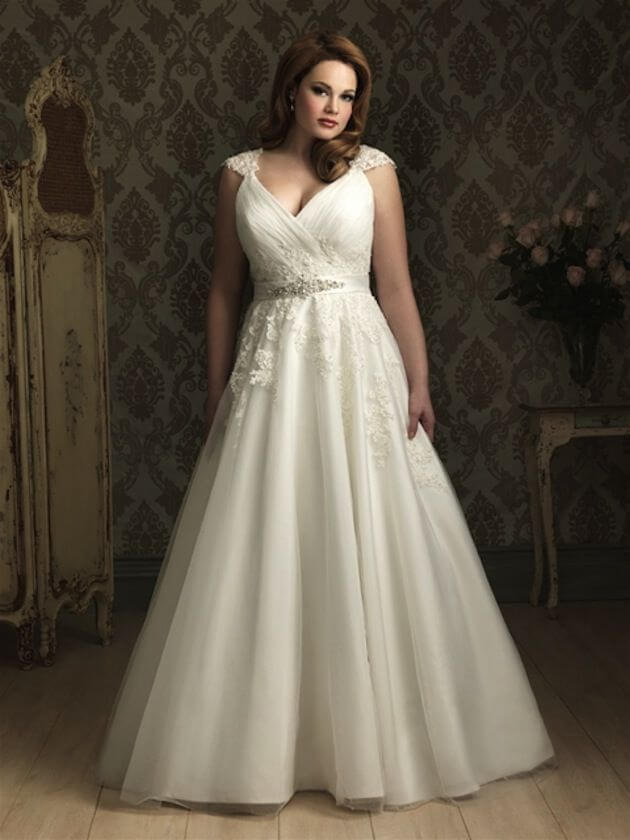 Sexy Wedding Dresses for Full-Chested Figures
