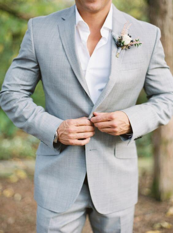 Sexy Wedding Dresses for men - Grey suit
