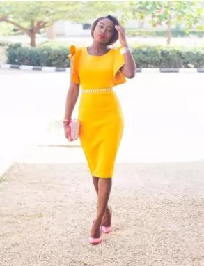Bright in yellow ensemble