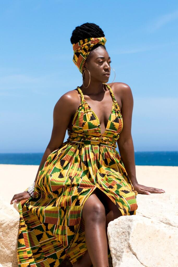 Ankara Print Beach Dress