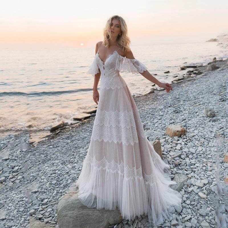 Satin A-Line Beach Dress