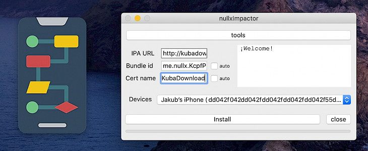 Cydia Impactor Alternative - nullxImpactor as an alternative to downlaod IPA files