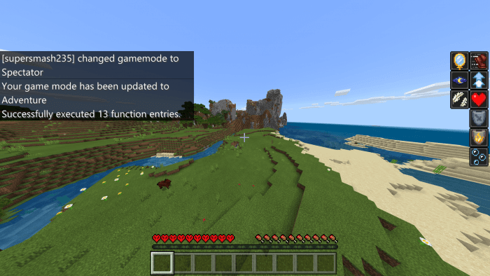 Spectator mode of Minecraft