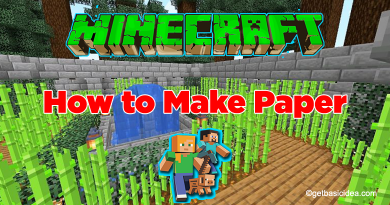 How to make paper in Minecraft