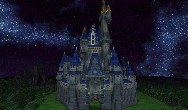Cinderella castle made in Minecraft