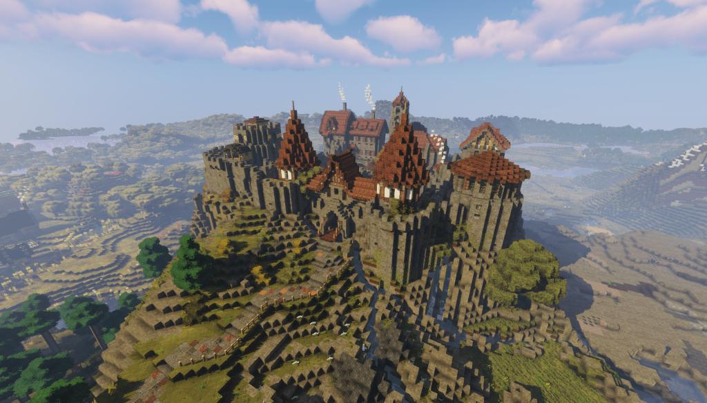 Falcon's Rock Minecraft castle