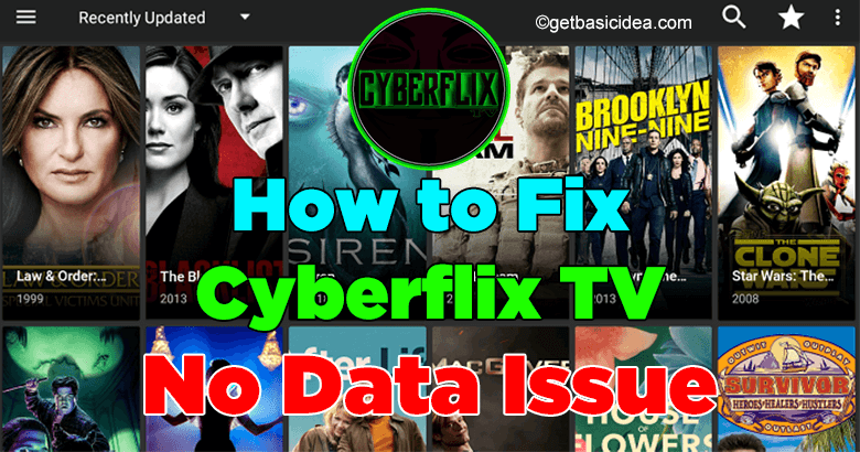 How to fix Cyberflix TV no data Issue