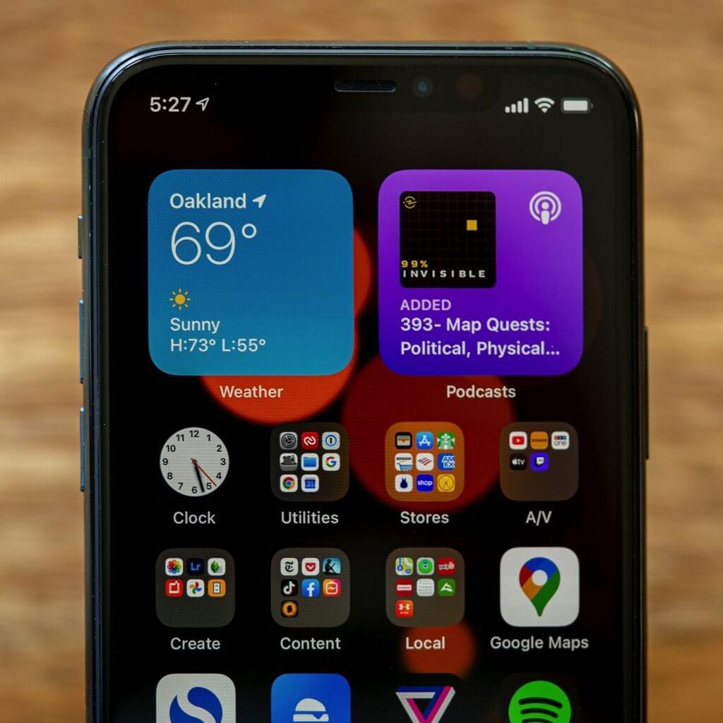 Iphone 11 Widgets Section