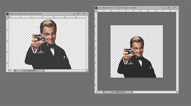 Make telegram stickers using a photo edition application.