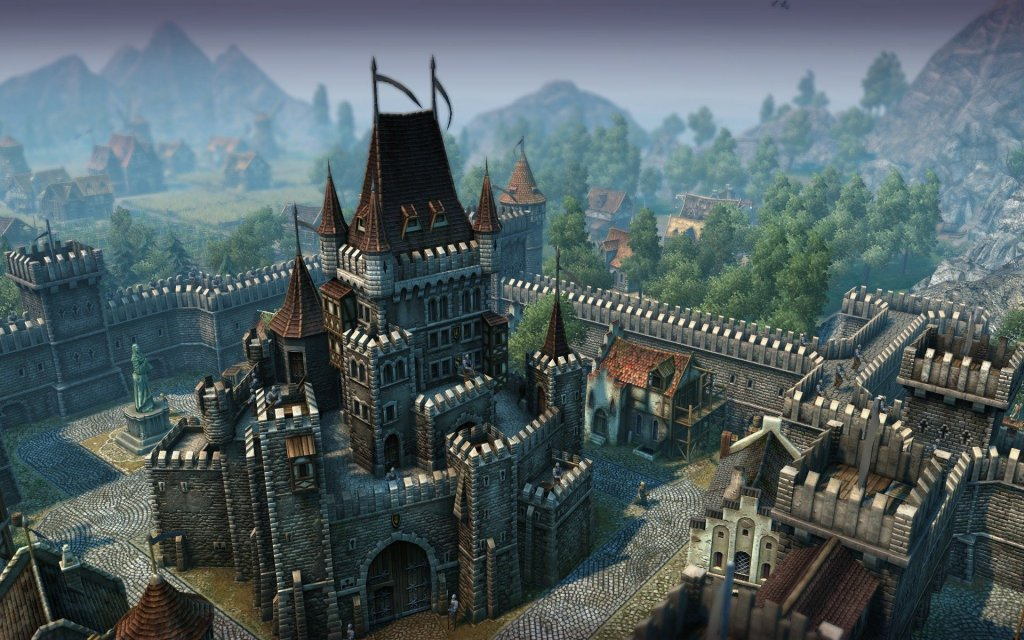 A beautiful Medieval castle and village of Minecraft.