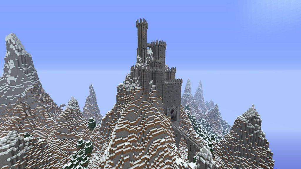 Castles built in mountains