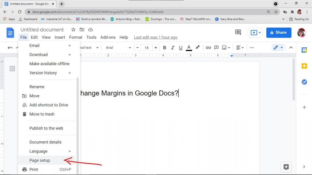Go to Page setup to change margin precisely.