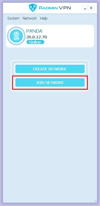 Radmin VPN - Join Network