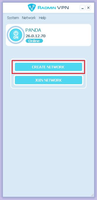 Create Network of Radmin VPN