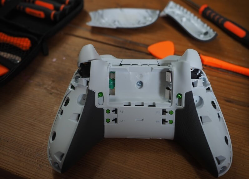 Remove the Safety Screws using the T8 screwdriver to take apart Xbox One controller.