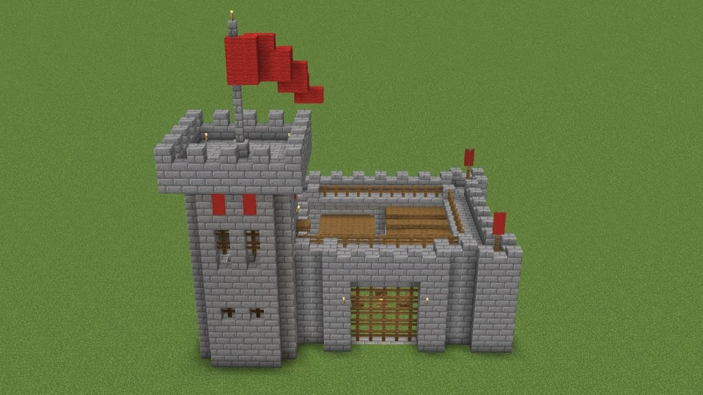 A small Minecraft castle that you can build.