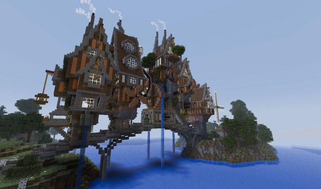 Steampunk Minecraft castle