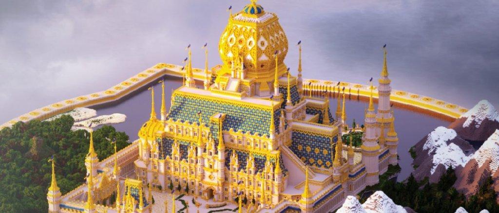 The golden castle of Minecraft made by Mutereu.